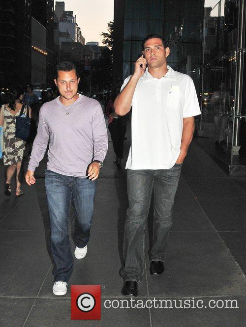 Mark Sanchez  out and about in Manhattan...