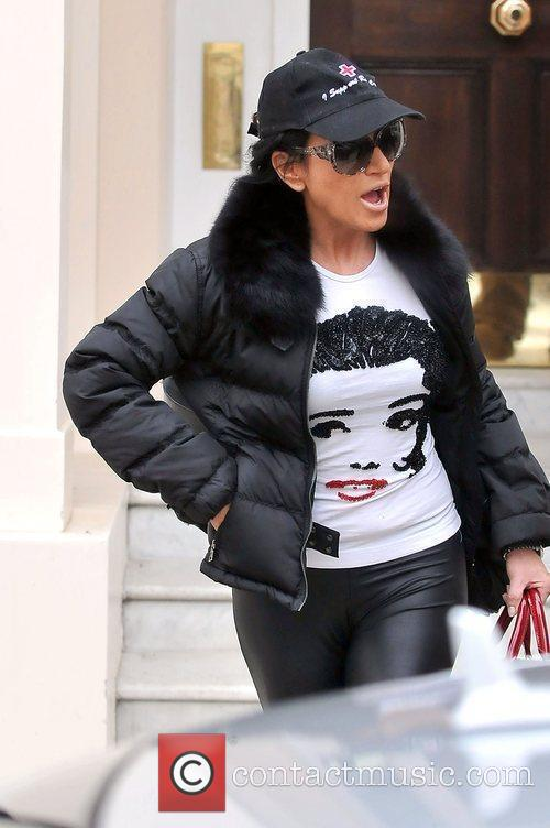 Nancy Dell'Olio leaving her house London, England