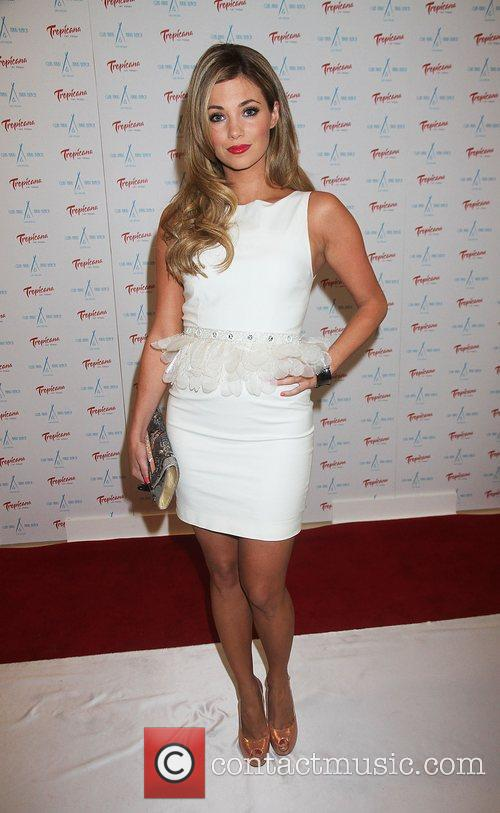 Amber Lancaster Nikki Beach holds a White Party...