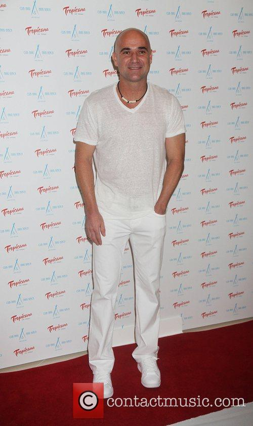 Andre Agassi Nikki Beach holds a White Party...