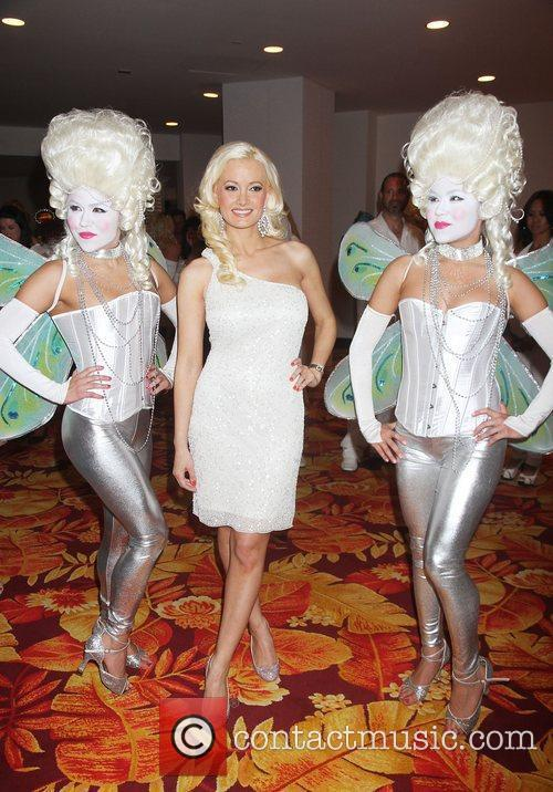 Holly Madison Nikki Beach holds a White Party...