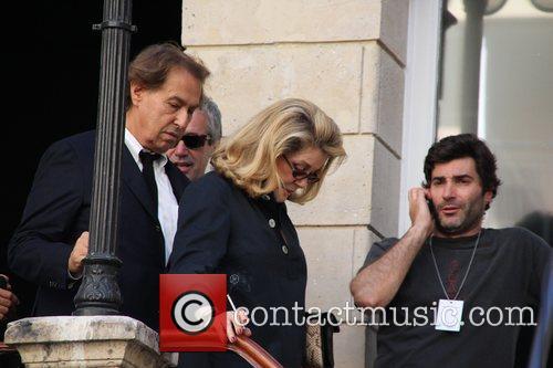 Catherine Deneuve Paris Fashion Week Spring/Summer 2012 Ready...