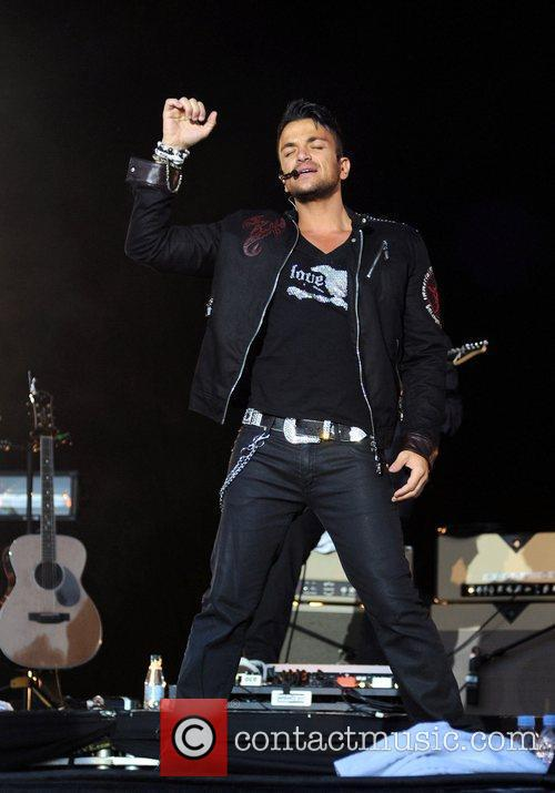 Peter Andre performing in Concert at Haigh Hall...