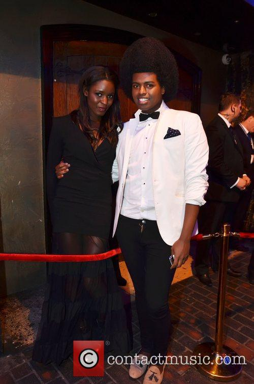 Fashion Blogger Prince Cassius and a friend leaving...