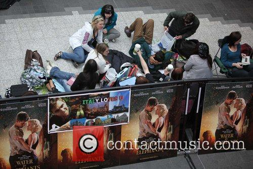 Robert Pattinson fans camping at Westfield Shopping Centre...