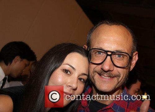 China Chow and Terry Richardson RXART hold their...