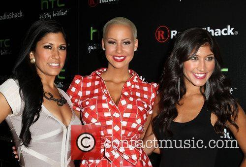 Amber Rose and friends Radioshack's HTC EVO 3D...