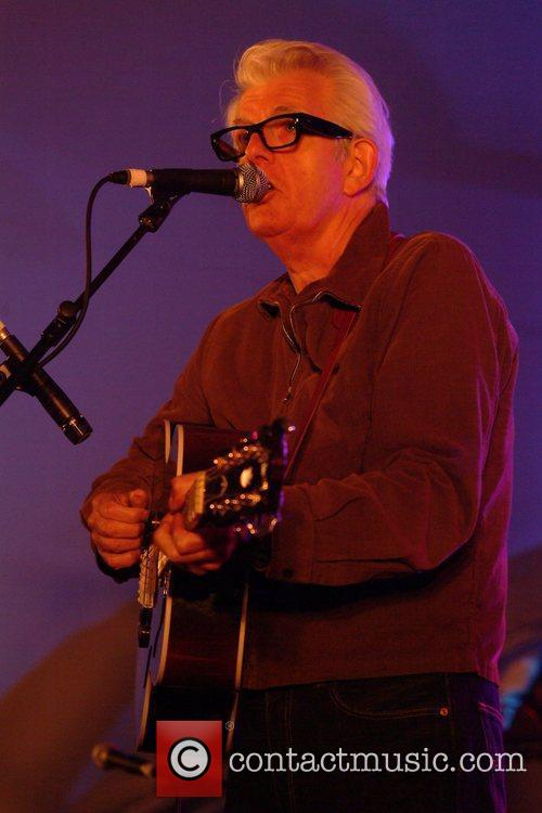 Nick Lowe performing at the Rhythm Festival Biggleswade...