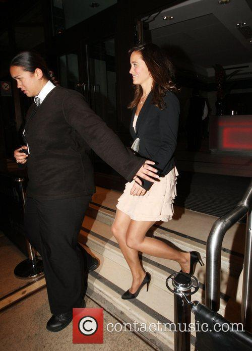 Pippa Middleton leaving a party hosted by Richard...