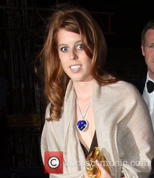 Princess Beatrice arriving at a party hosted by...