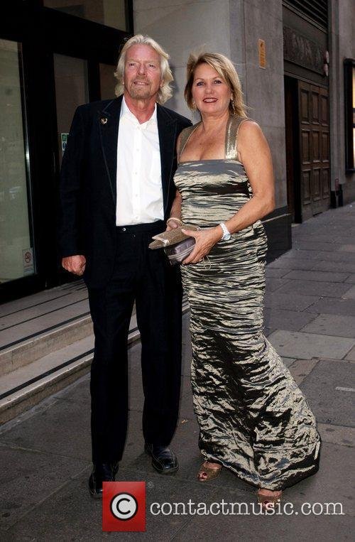 Richard Branson and his wife Joan Branson arriving...