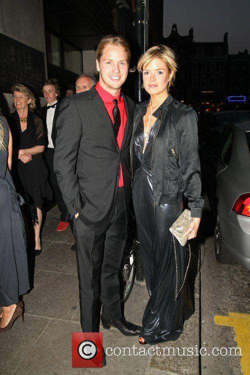 Sam Branson and his girlfriend arrives at a...