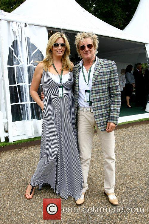 Penny Lancaster and Rod Stewart at the last...