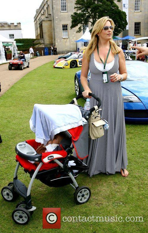 Penny Lancaster and her son Aiden at the...