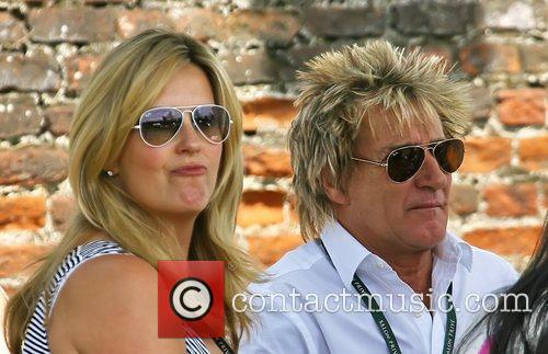 Rod Stewart, Penny Lancaster at the last day...