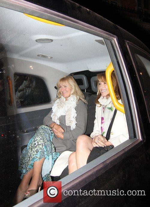 Jane Seymour leaving Scotts restaurant London, England