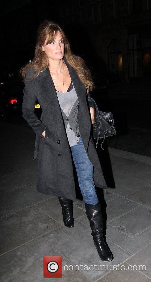 Jemima Khan leaving Scotts restaurant London, England