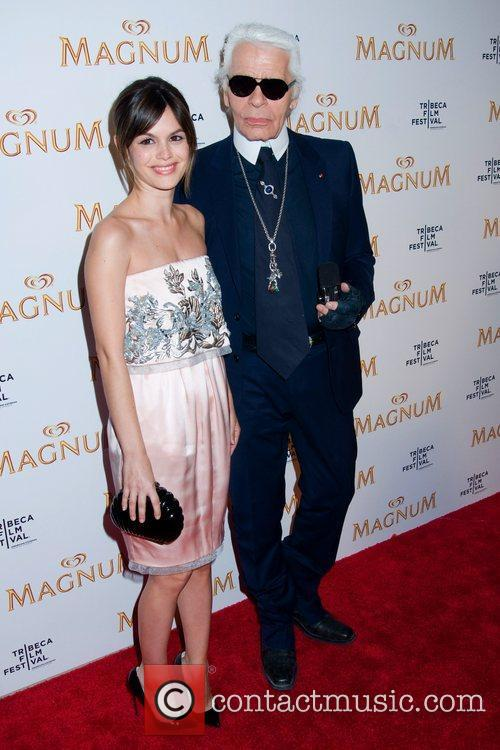 Rachel Bilson and Karl Lagerfeld 2