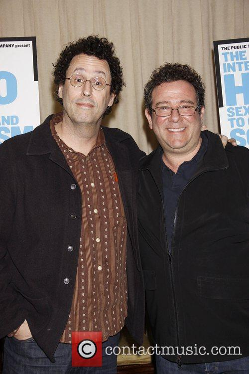 Tony Kushner and Michael Greif attend 'The Intelligent...