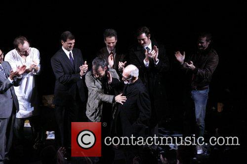 John Benjamin Hickey, Joe Mantello, Lee Pace, Mark Harelik and Patrick Breen