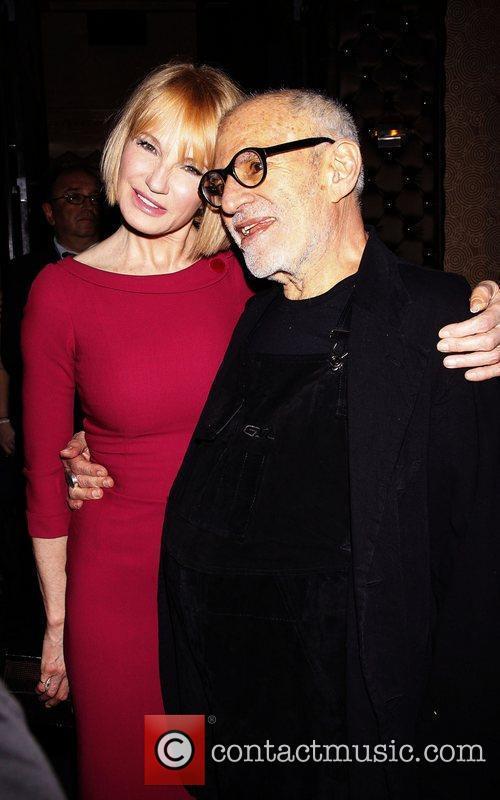 Ellen Barkin and Larry Kramer Opening night after...