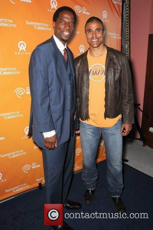 Ac Green and Rick Fox from the LA...