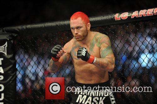 headline fighter Chris Leben had his fight stopped...