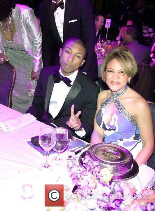 Pharrell Williams, Tamara Harris Robinson, co-chair, of uncf...