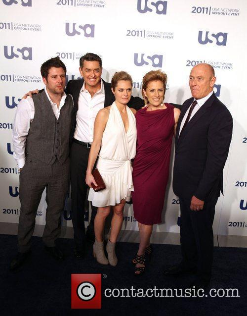 James Roday, Corbin Bernsen and Maggie Lawson 2