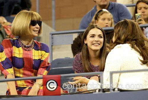 Anna Wintour, editor-in-chief of American Vogue and Mirka...