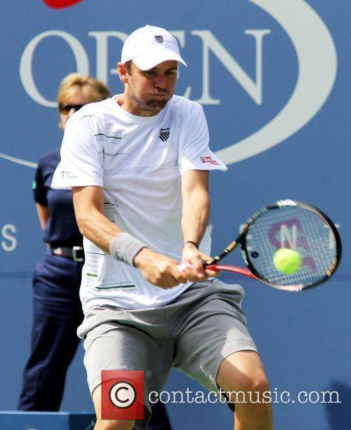 Mardy Fish of the USA in action during...