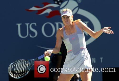 During her match against Heather Watson of Great...
