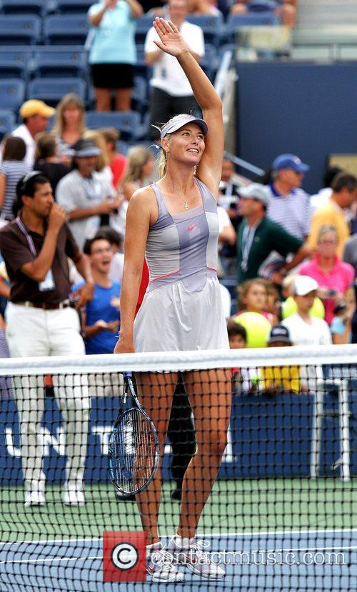 Maria Sharapova of Russia during her match against...