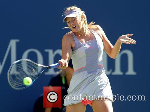 Maria Sharapova of Russia in action during her...
