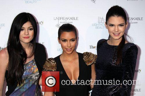 Kylie Jenner, Kim Kardashian and Kendall Jenner at...