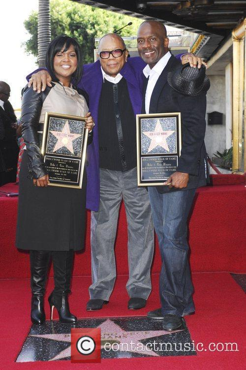Bebe Winans, Quincy Jones and Star On The Hollywood Walk Of Fame 4