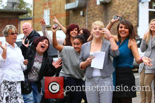 'X Factor Finalists' at a dance rehearsal studio