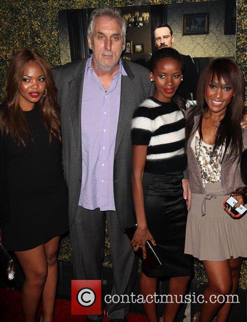 A guest, director Phillip Noyce, wife Vuyo Dyasi,...