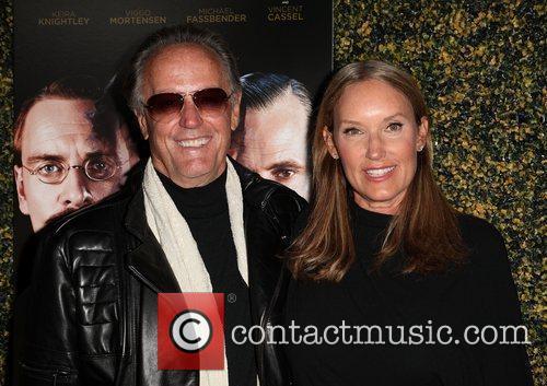 Peter Fonda and Margaret DeVogelaere LA Premiere Of...