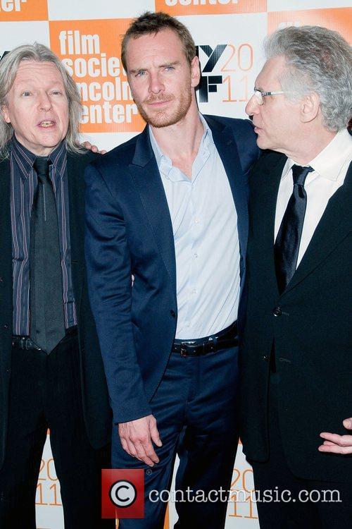 Christopher Hampton, David Cronenberg and Michael Fassbender