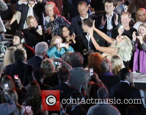 Lady Gaga and Bill Clinton 1