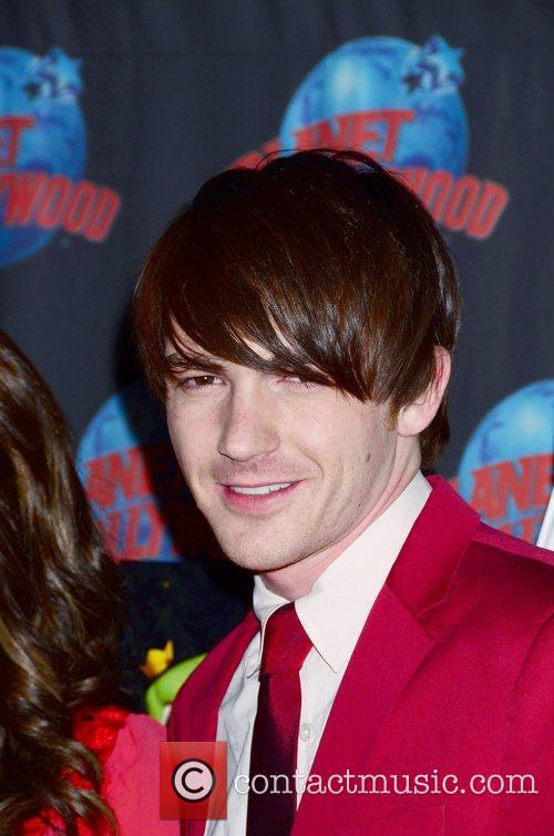 Drake Bell appears at Planet Hollywood to promote...
