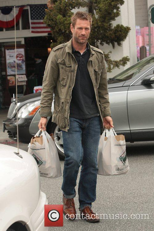 Leaving Bristol Farms with his weekly shop