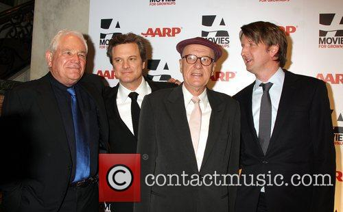 Guest, Colin Firth, Geoffrey Rush and Tom Hooper...