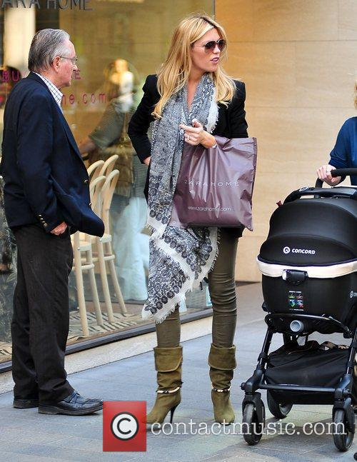 Abbey Clancy goes shopping at Zara in Liverpool