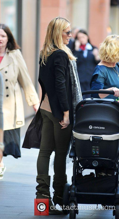 Abbey Clancy goes shopping at Zara in Liverpool...