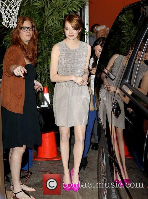 Emma Stone at ABC studios for 'Live With...