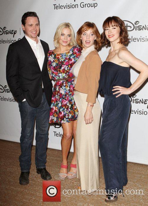 Michael Mosley, Karine Vanasse and Kelli Garner