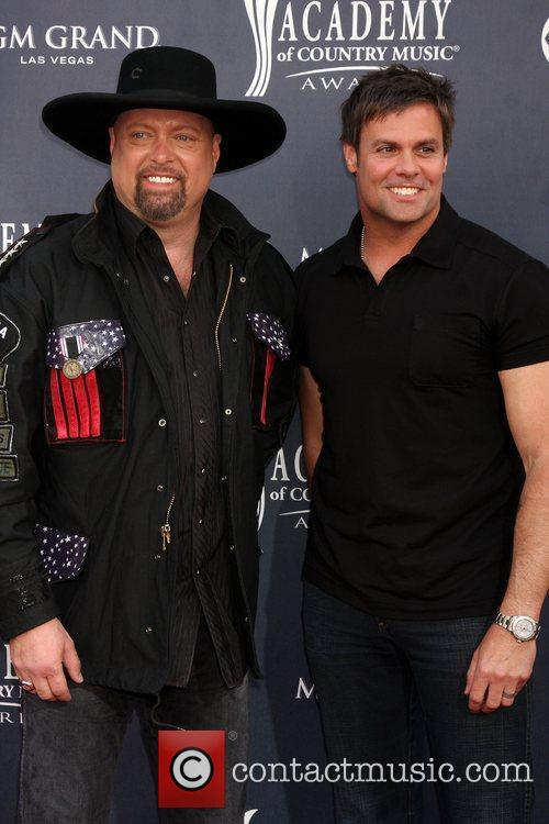 Eddie Montgomery (L) and Troy Gentry (R) of Montgomery Gentry pictured at the Academy of Country Music Awards