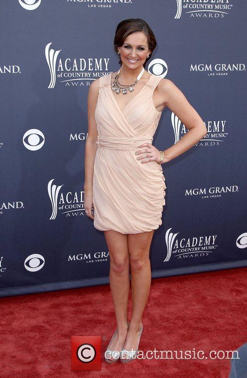Ashley Gearing 2011 ACM Awards Red Carpet At...